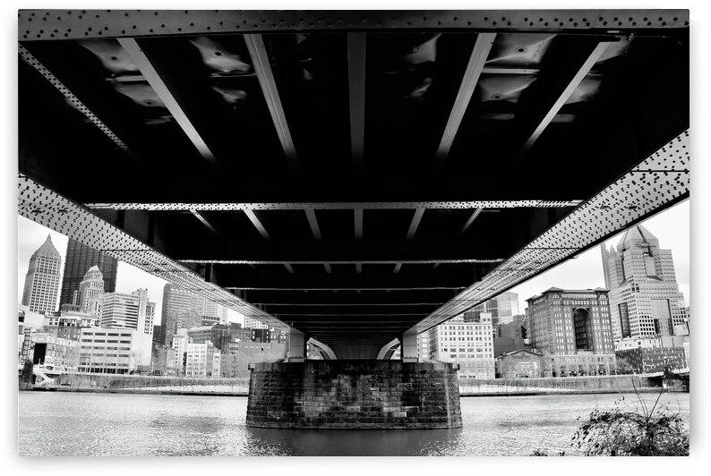 Beneath the Bridge ... Pittsburgh  Pennsylvania by Fred J Bivetto