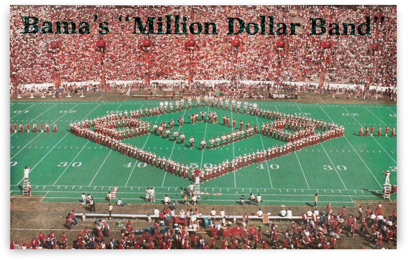 1984 Alabama Million Dollar Band Poster by Row One Brand