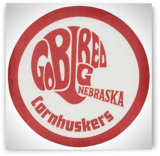 Retro Go Big Red Nebraska Football Helmet Art by Row One Brand