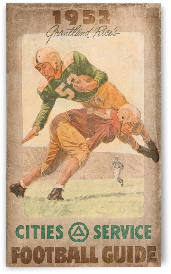 1952 Cities Service Football Guide Poster by Row One Brand