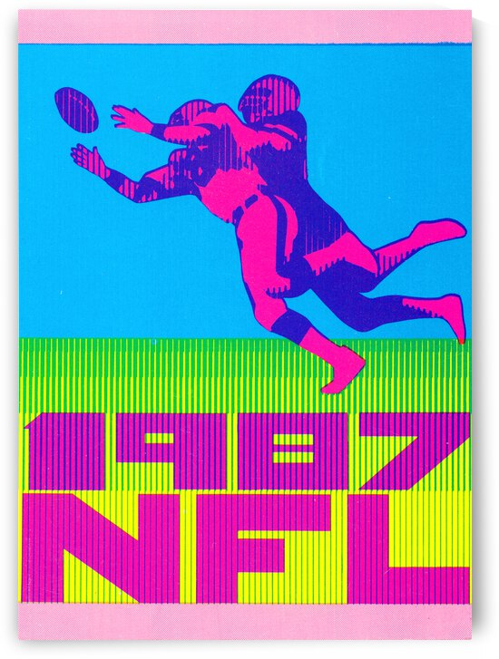 1987 Retro NFL Football Art Poster by Row One Brand