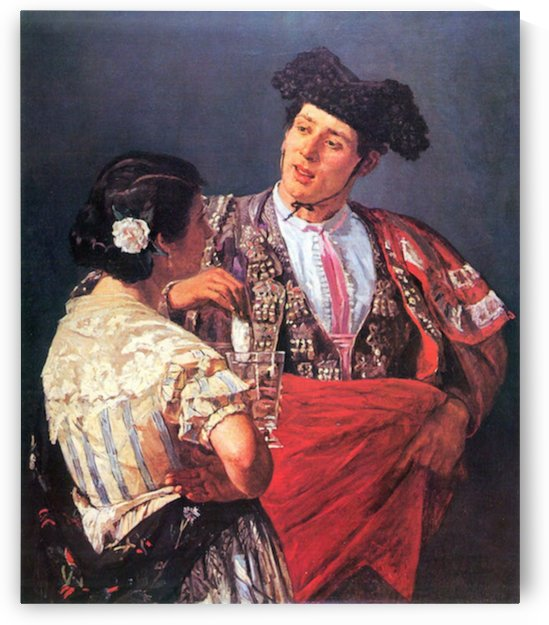 Torero and young girl by Cassatt by Cassatt