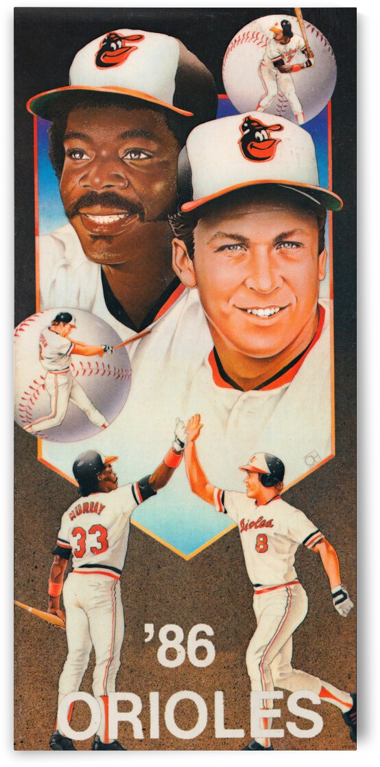 1986 Baltimore Orioles Ripken Murray Poster by Row One Brand