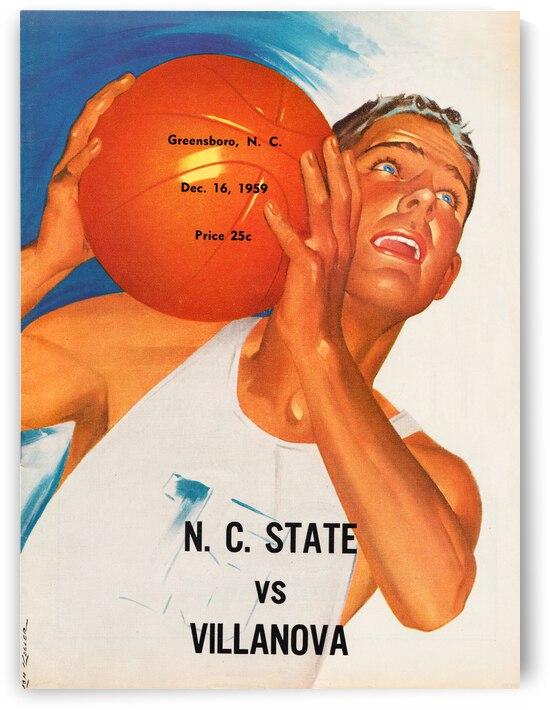 1959 NC State vs. Villanova Basketball Program Canvas by Row One Brand