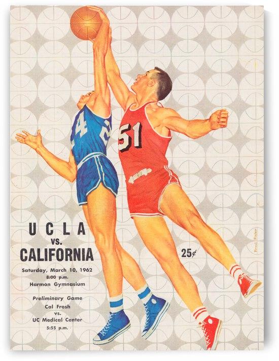 1962 UCLA vs. California Basketball Program Cover Art by Row One Brand