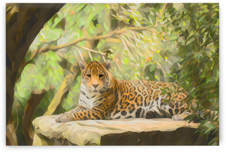 Leopard Wildlife Painting by Lovely Singam