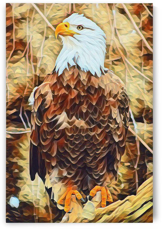 Majestic Eagle Painting by Lovely Singam