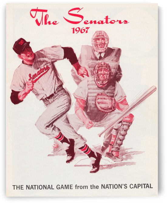 1967 Washington Senators Baseball Poster by Row One Brand