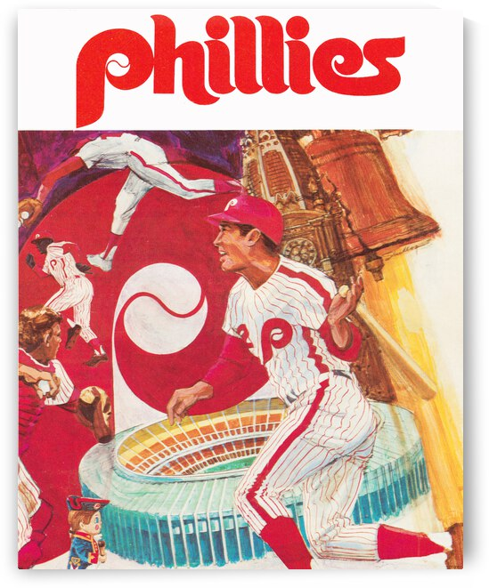 1971 Phillies Baseball Art Poster by Row One Brand