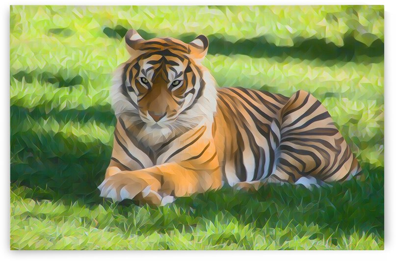 Tiger Painting by Lovely Singam
