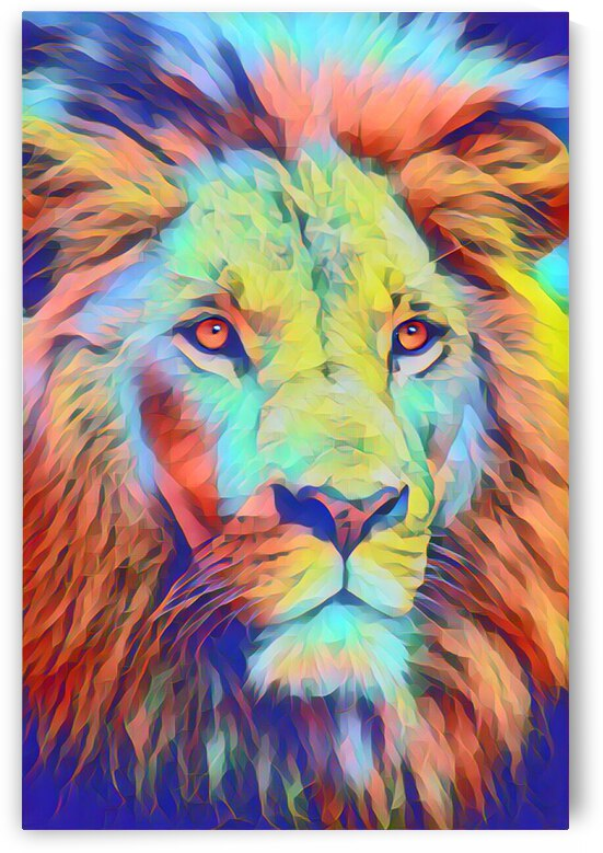 Awesome Lion Painting by Lovely Singam