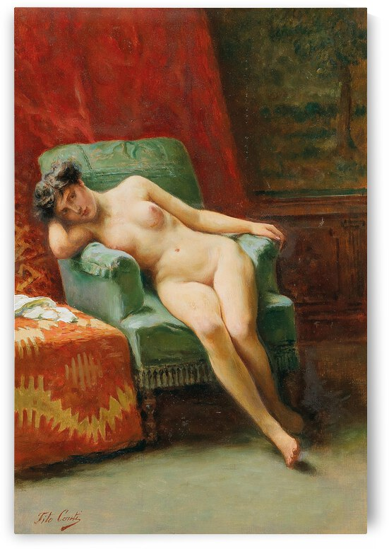 Tito Conti The Model ca 1870 by TOPARTGALLERY