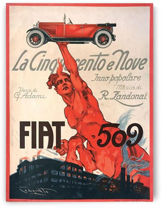 Plinio Codognato Fiat 509  La Cinquecento E Nove 1925 by TOPARTGALLERY