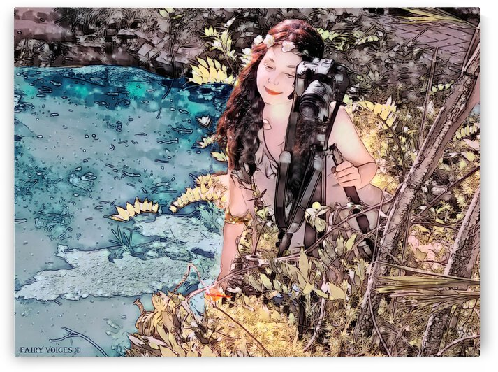 FAIRY AND THE LAKE - Art-Photo  2-4 by Nazan Saatci