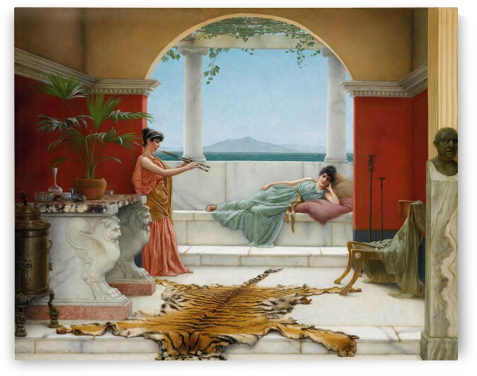John William Godward The Sweet Siesta Of A Summer Day  1891  by TOPARTGALLERY