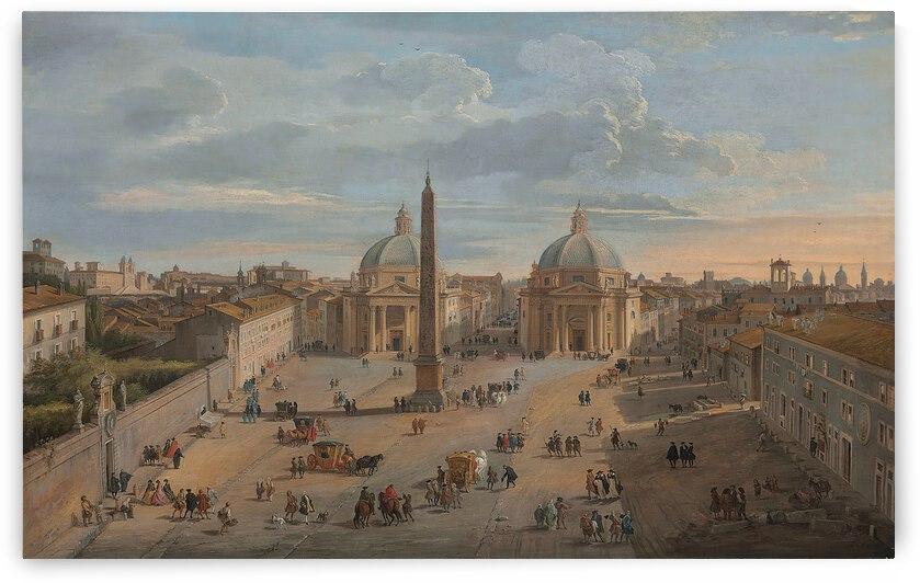 Giovanni Paolo Panini 1760 View Of Piazza Del Popolo Rome by TOPARTGALLERY