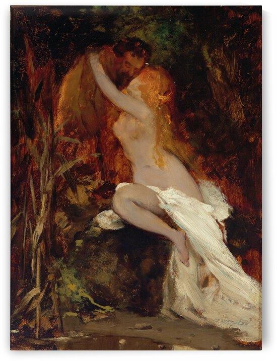 Hans Makart Faun And Nymph 1865 by TOPARTGALLERY