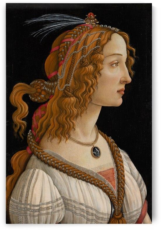 Sandro Botticelli Portrait of Simonetta Vespucci as Nymph  ca. 1480  by TOPARTGALLERY