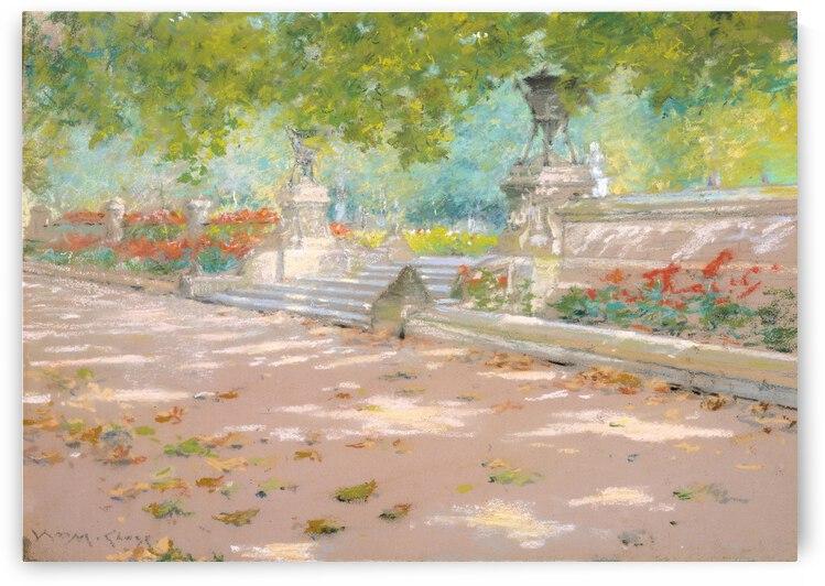William Merritt Chase Terrace  Prospect Park  ca. 1887  by TOPARTGALLERY