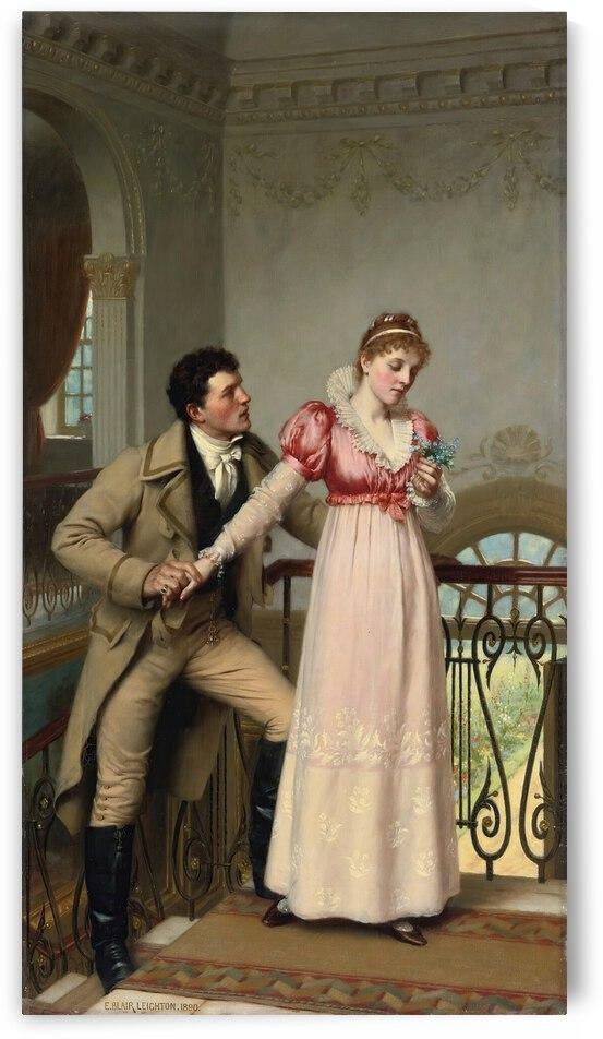 Edmund Blair Leighton Yes Or No  1890  by TOPARTGALLERY