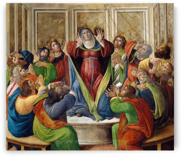 Sandro Botticelli The Descent Of The Holy Ghost  1495 1505  by TOPARTGALLERY