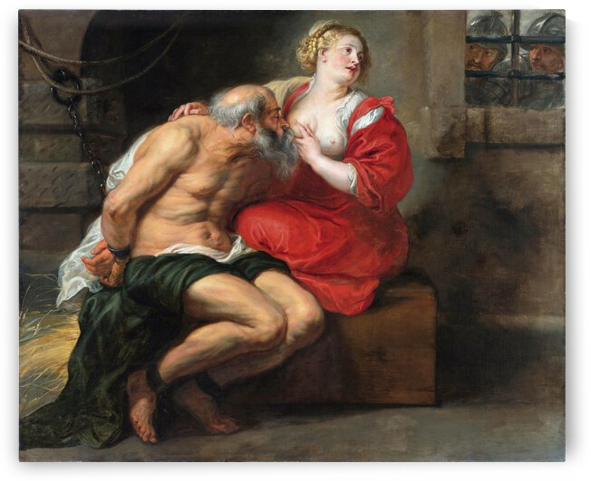 Peter Paul Rubens Cimon and Pero  Roman Charity   1630   1640  by TOPARTGALLERY