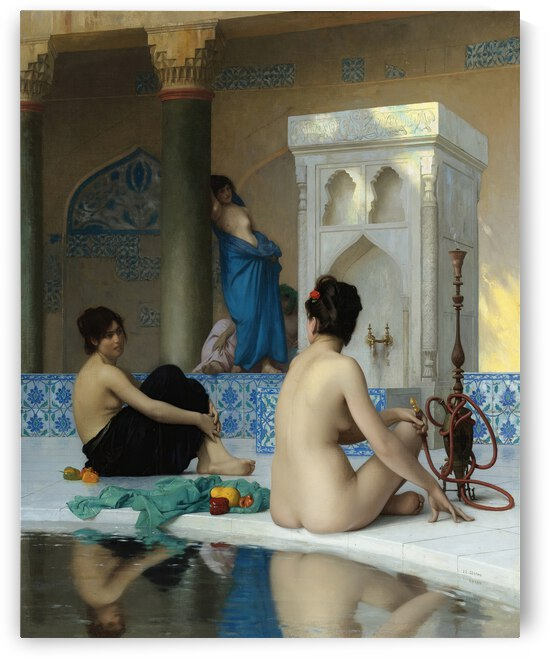 Jean Leon Gerome  After the Bath  19th century  by TOPARTGALLERY