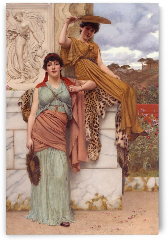 John William Godward Waiting For The Procession 1916 by TOPARTGALLERY