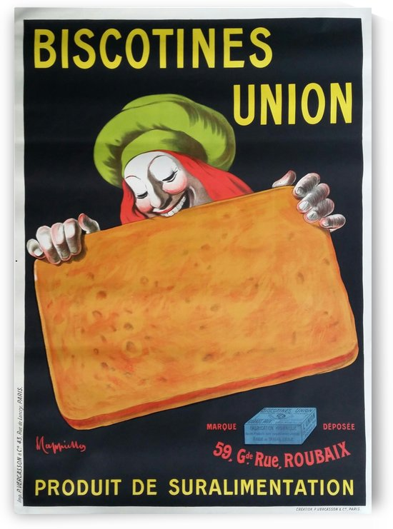 Original Vintage Poster Biscotines Union by VINTAGE POSTER