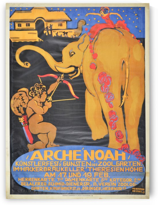 Arche Noah Kunstlerfest, 1913 by VINTAGE POSTER
