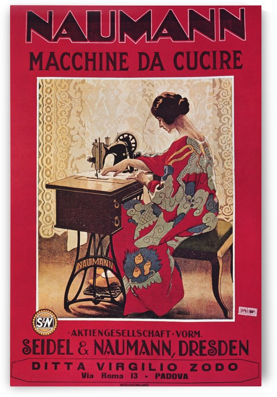 Naumann Sewing Machine by VINTAGE POSTER