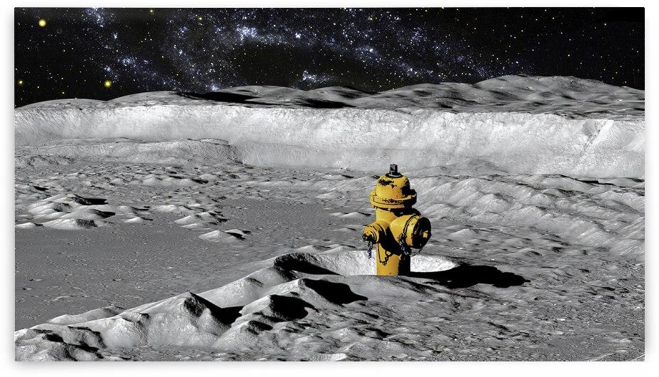 Space Fire Hydrant by Richard Krol