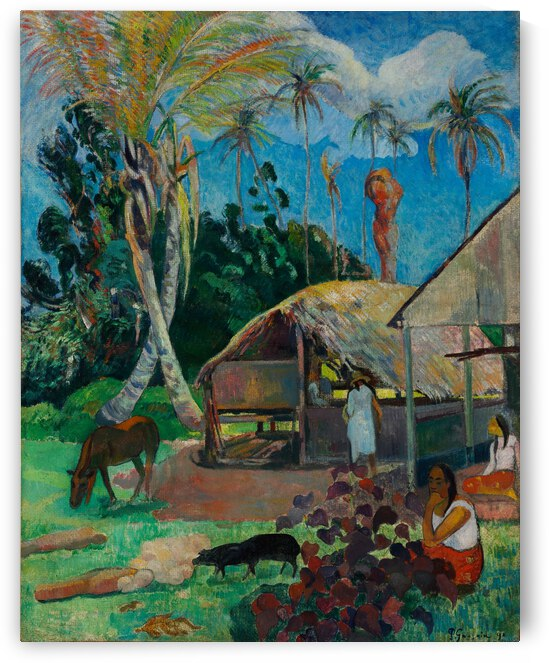 Paul Gauguin The Black Pigs by TOPARTGALLERY