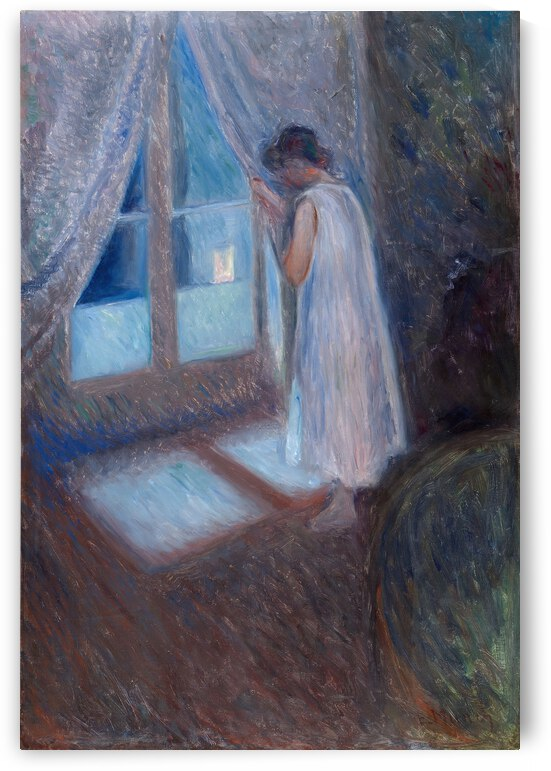 Edvard Munch The Girl by the Window  1893  by TOPARTGALLERY