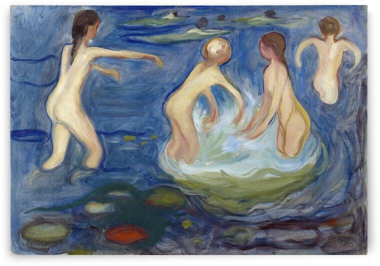 Edvard Munch Bathing Girls  1897   99  by TOPARTGALLERY