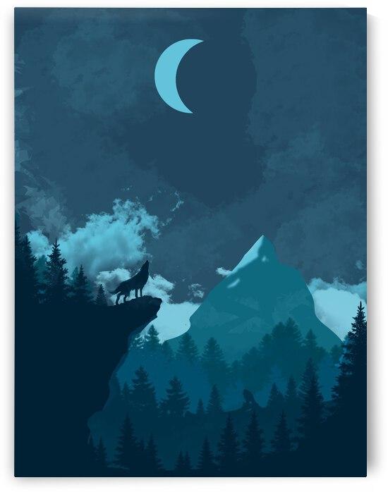 Mountain Wolf Night by CarlosDoesPhoto