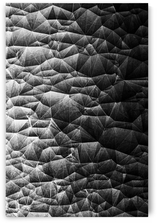 geometric triangle shape abstract background in black and white by TimmyLA