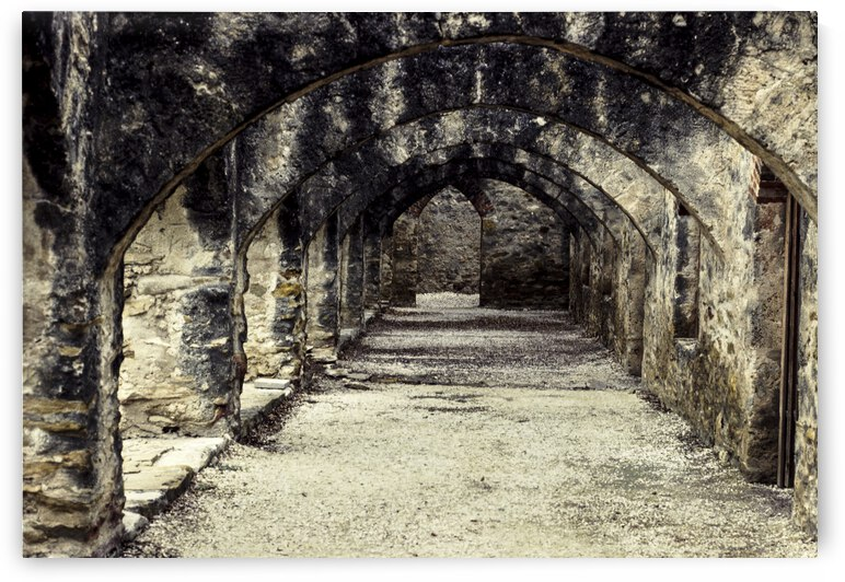 Mission San Jose Arches No. 1 by Charnesky Photography