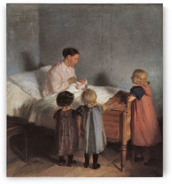The little brother by Anna Ancher by Anna Ancher