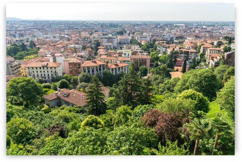 Beautiful Bergamo Lombardy Italy - Citta Bassa Lower City and Po River Valley from the Venetian Walls by GeorgiaM