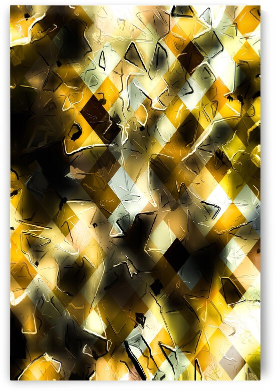 geometric pixel pattern abstract background in yellow and black by TimmyLA