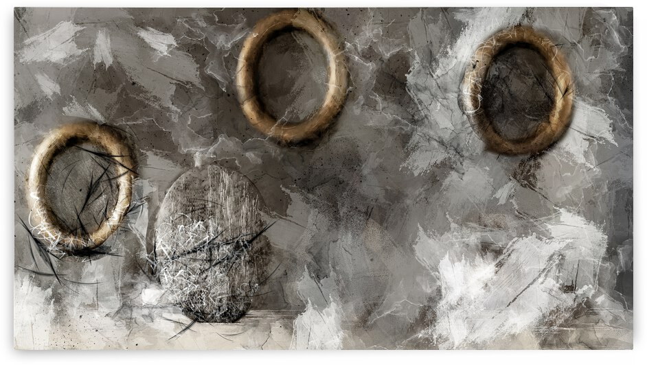 Nesting Circles Art II by Tae