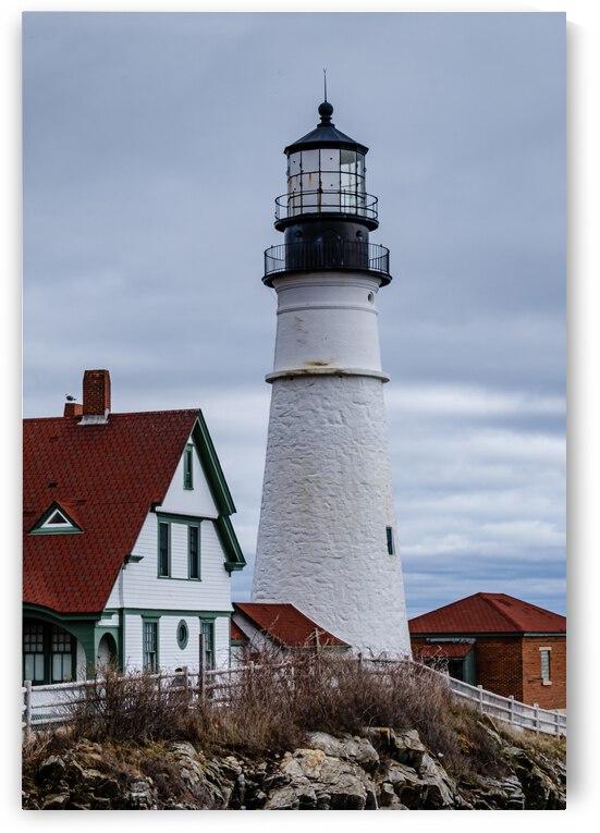 Portland Head Light - Cape Elizabeth Maine by Dave Therrien