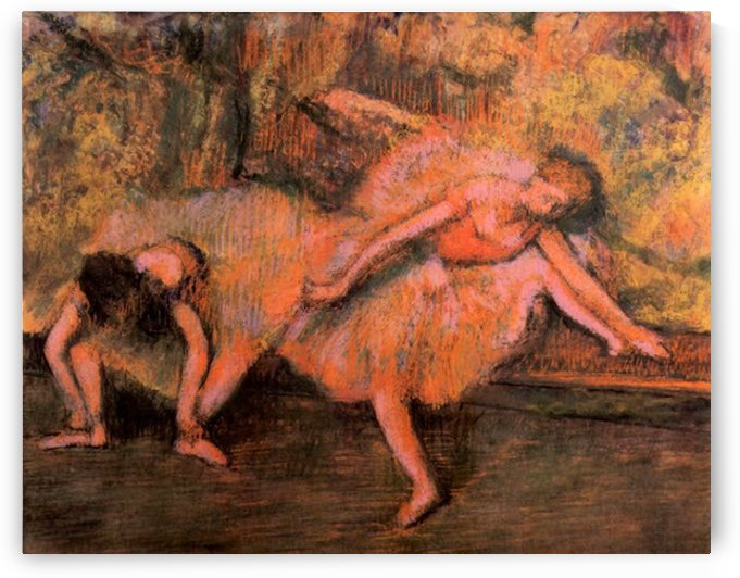 Two dancers on a bank by Degas by Degas