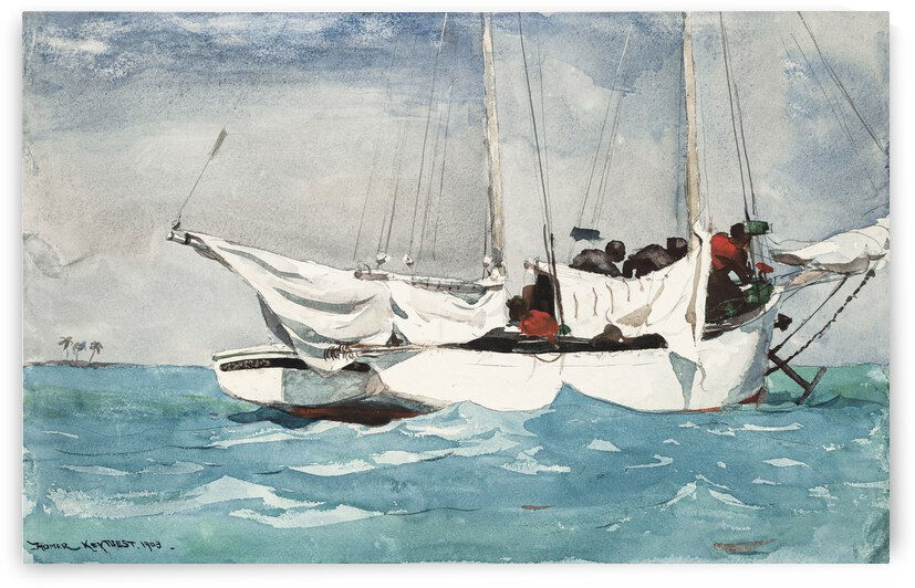 Winslow Homer Key West Hauling Anchor 1903 by TOPARTGALLERY