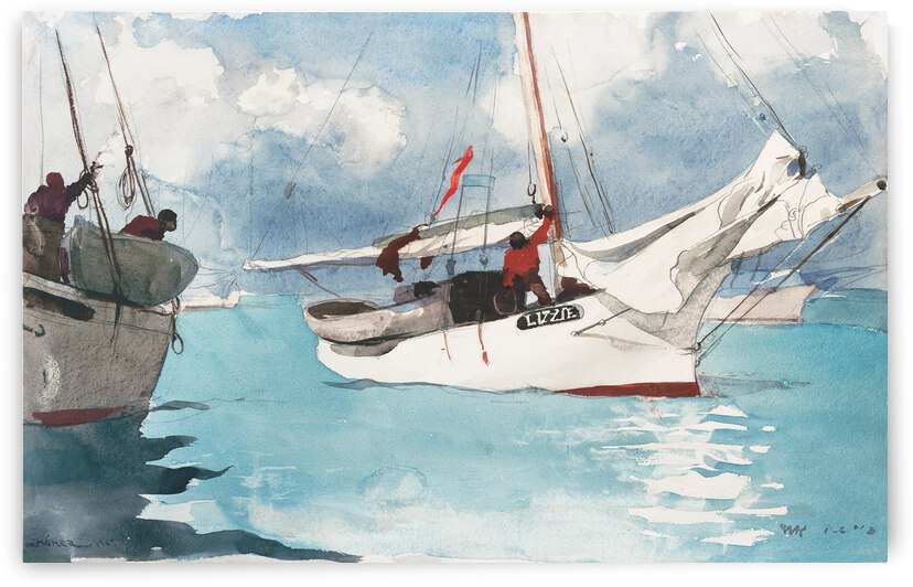 Winslow Homer Fishing Boats Key West 1903 by TOPARTGALLERY