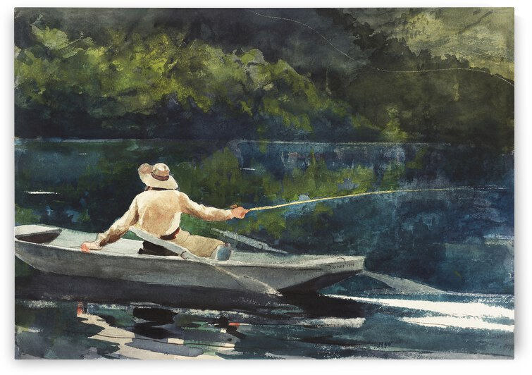 Winslow Homer Casting Number Two 1894 by TOPARTGALLERY