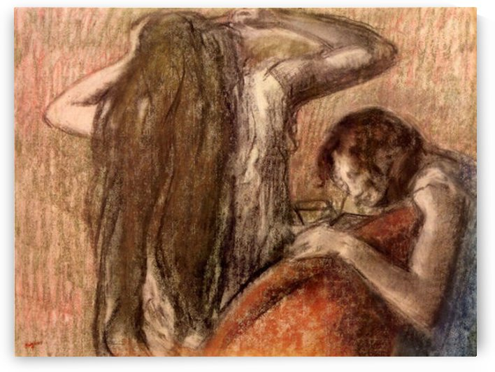 Two girls by Degas by Degas