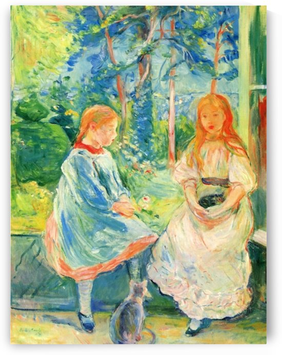 Two girls by the window by Morisot by Morisot