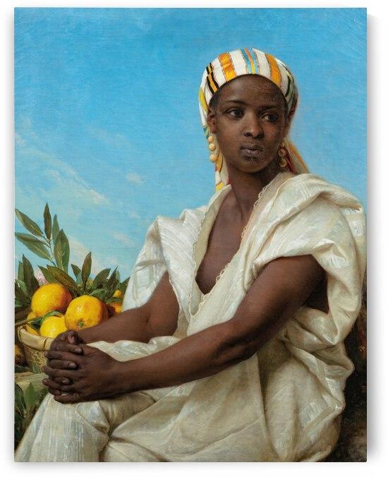 Emile Vernet Lecomte Portrait of a black woman ca 1880 by TOPARTGALLERY